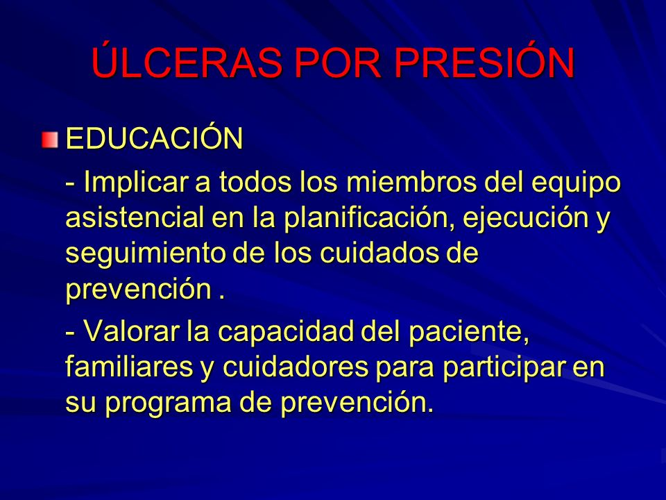 ÚLCERAS POR PRESIÓN EDUCACIÓN