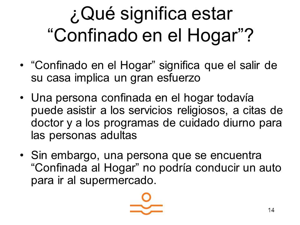 ¿Qué significa estar Confinado en el Hogar