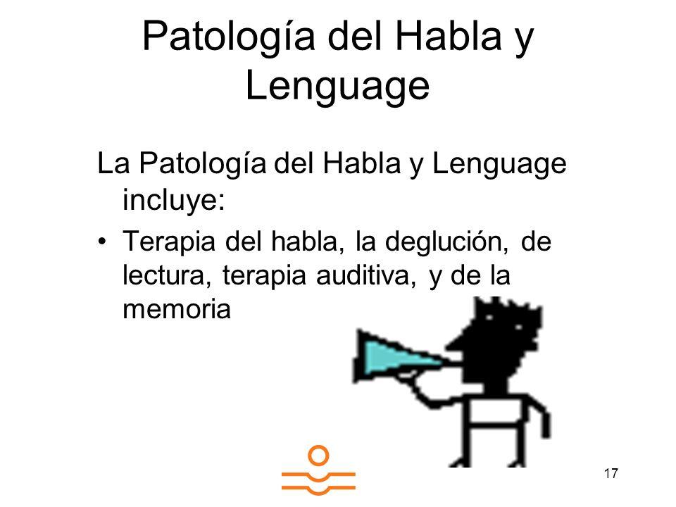Patología del Habla y Lenguage