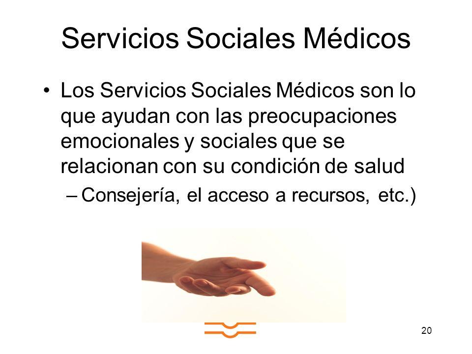 Servicios Sociales Médicos