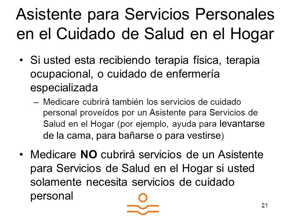 Asistente para Servicios Personales en el Cuidado de Salud en el Hogar