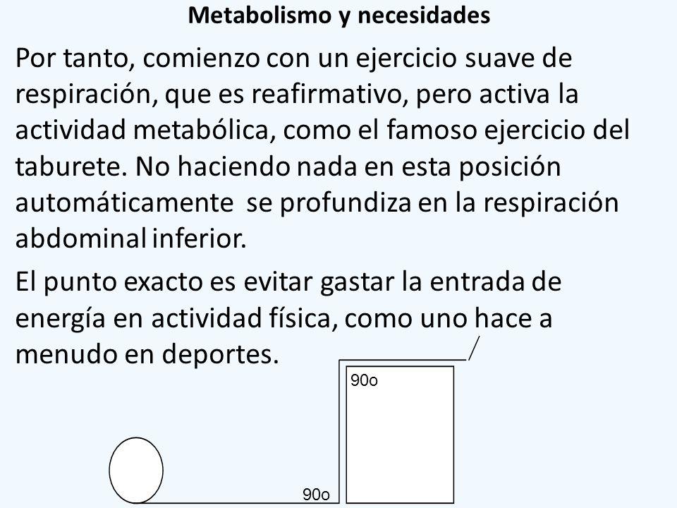 Metabolismo y necesidades