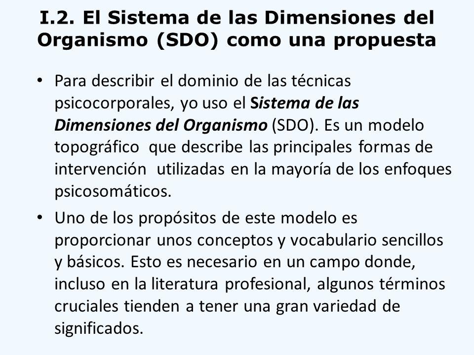 I.2. El Sistema de las Dimensiones del Organismo (SDO) como una propuesta