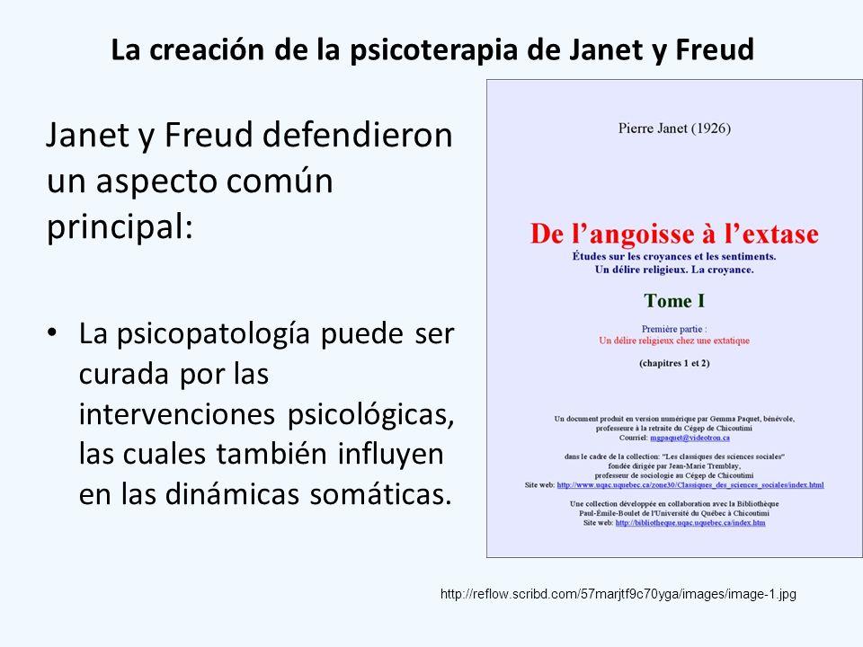 La creación de la psicoterapia de Janet y Freud