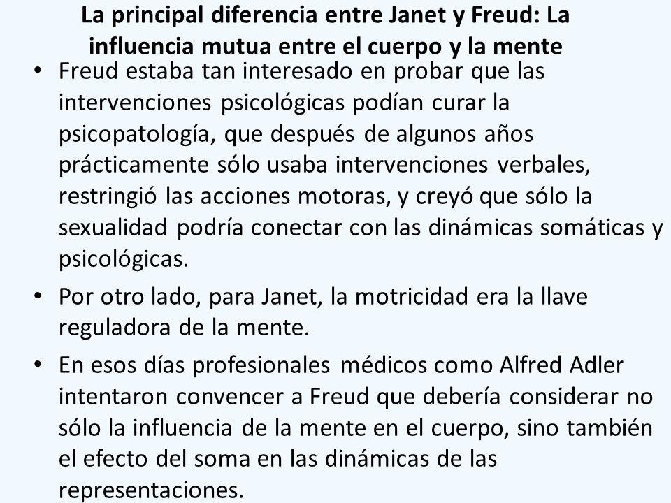 La principal diferencia entre Janet y Freud: La influencia mutua entre el cuerpo y la mente