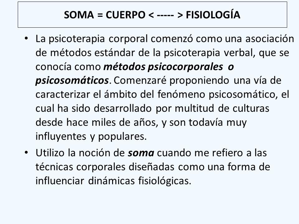 SOMA = CUERPO < ----- > FISIOLOGÍA