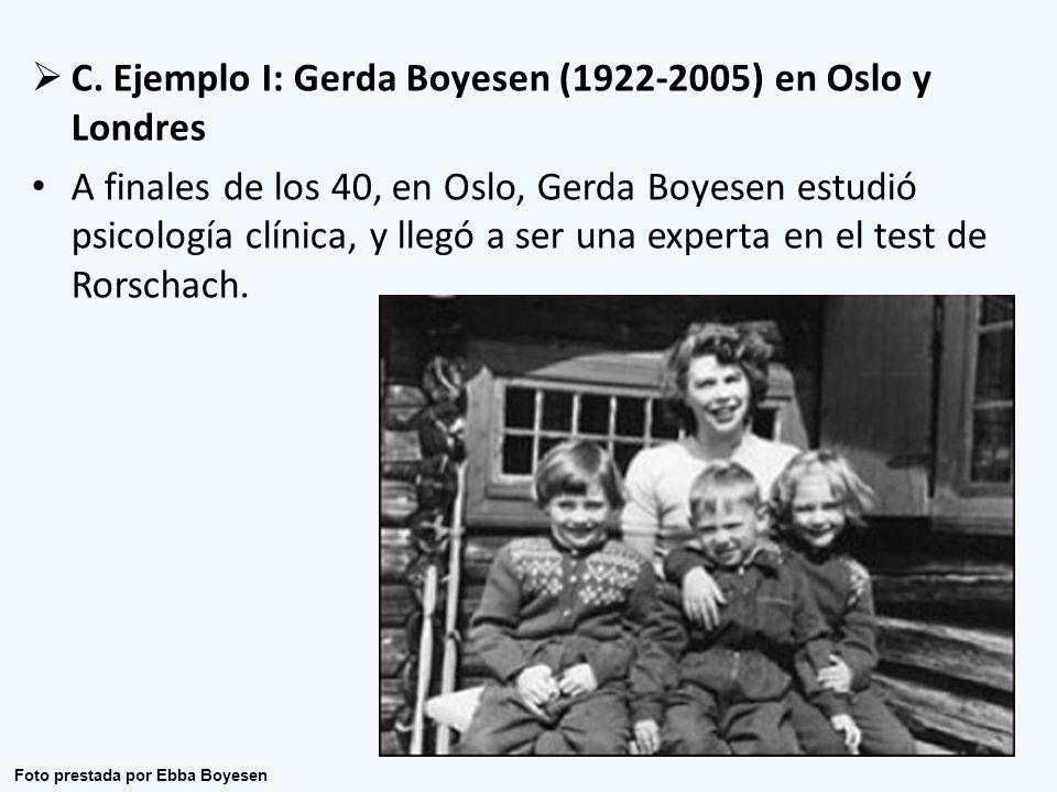 C. Ejemplo I: Gerda Boyesen (1922-2005) en Oslo y Londres