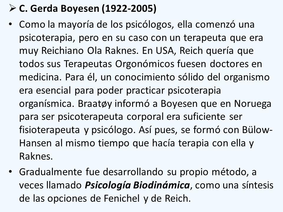 C. Gerda Boyesen (1922-2005)