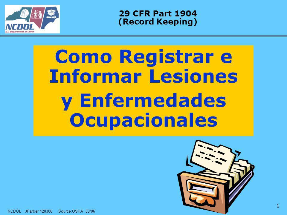 29 CFR Part 1904 (Record Keeping)