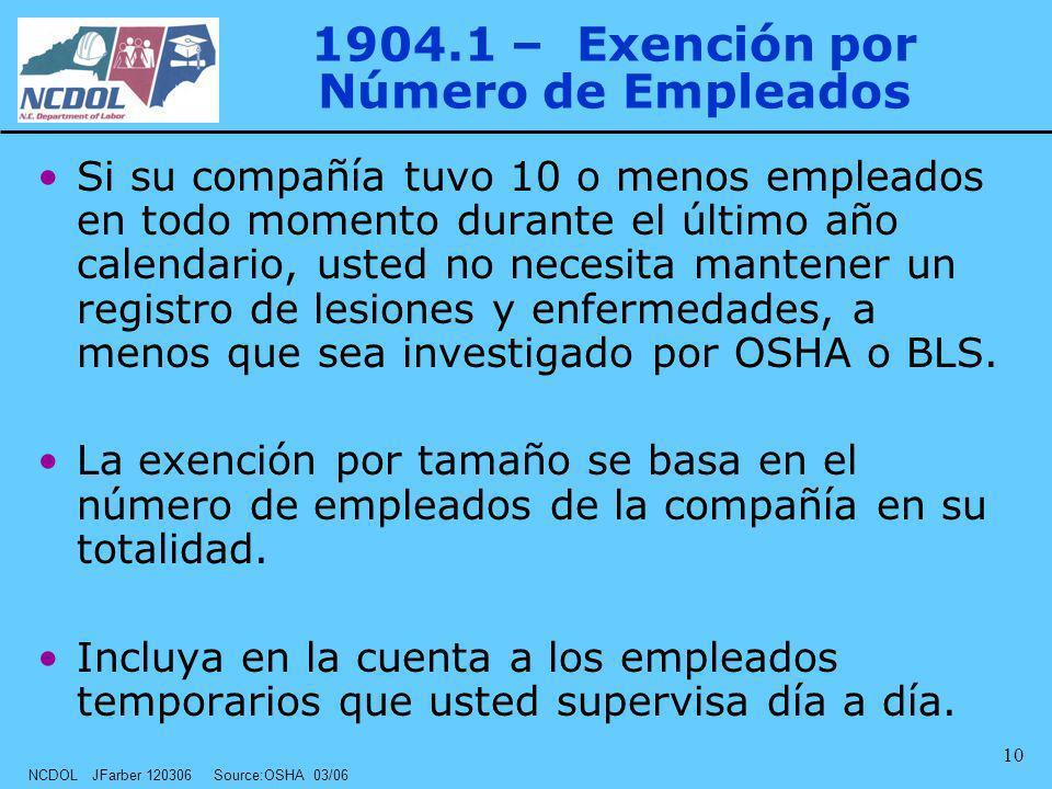 1904.1 – Exención por Número de Empleados
