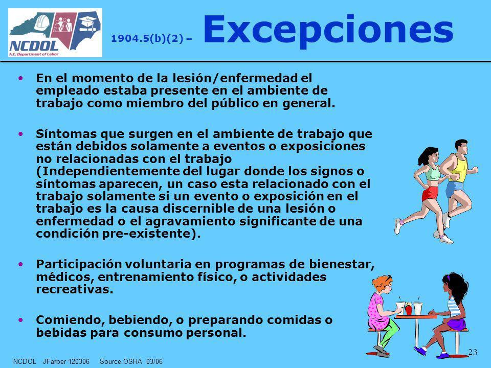1904.5(b)(2) – Excepciones