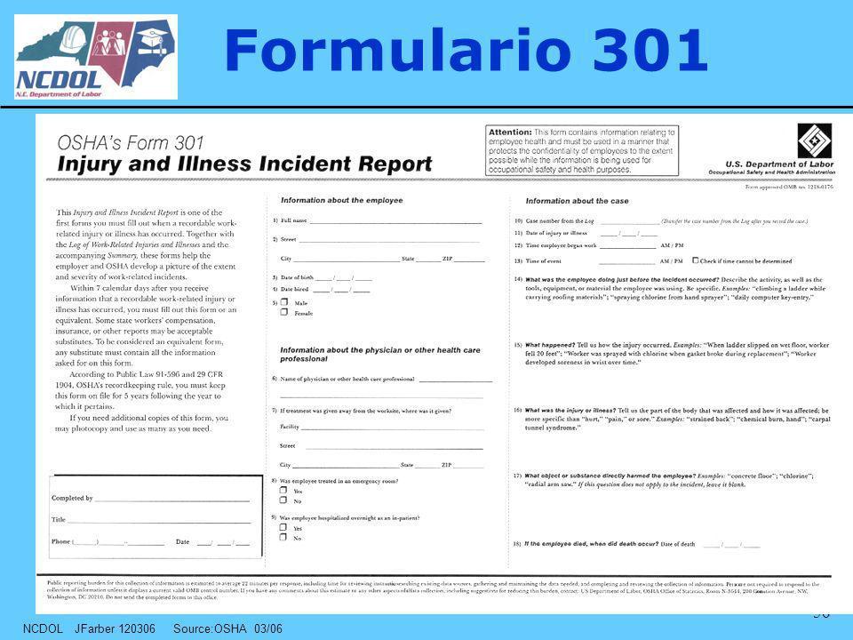 Formulario 301