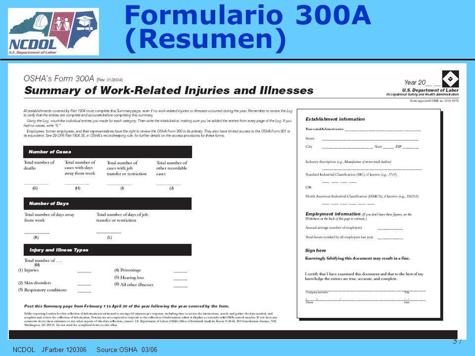 Formulario 300A (Resumen)