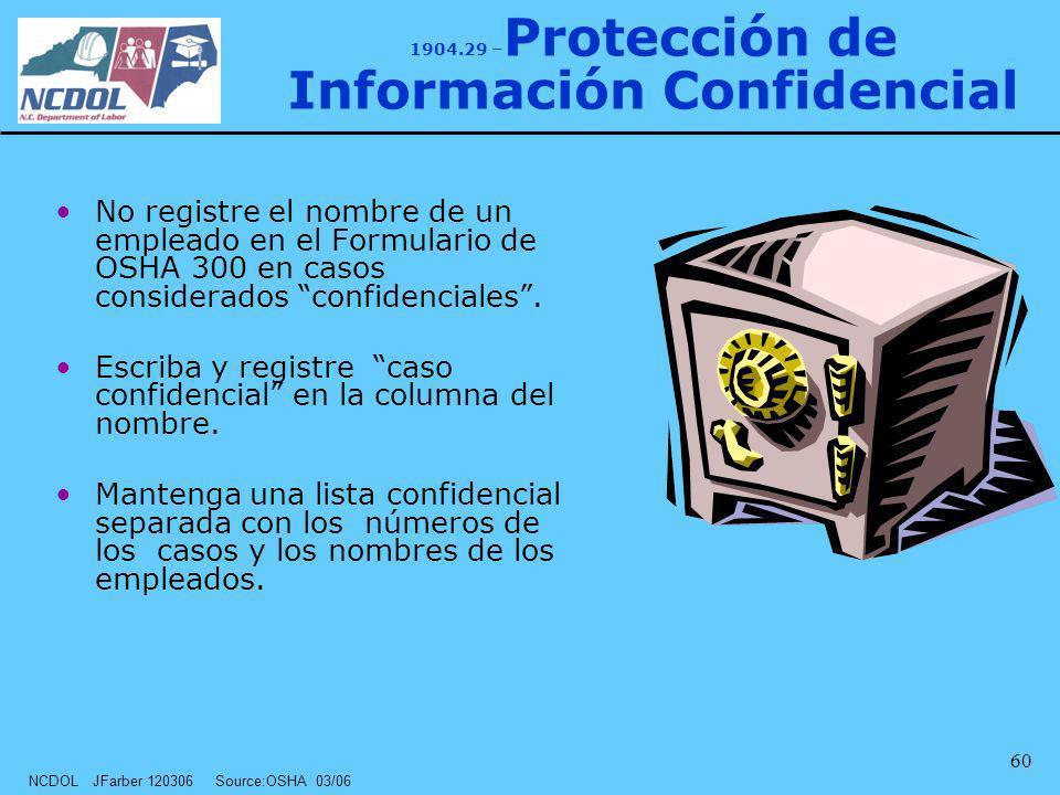 1904.29 –Protección de Información Confidencial