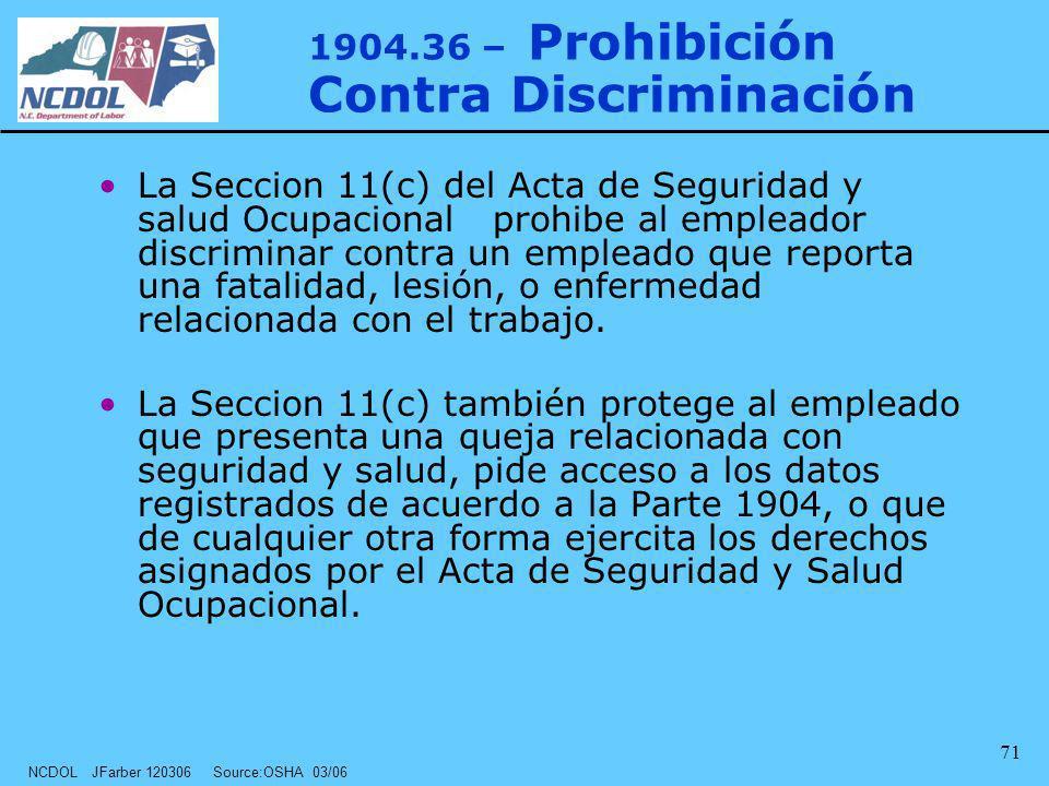 1904.36 – Prohibición Contra Discriminación