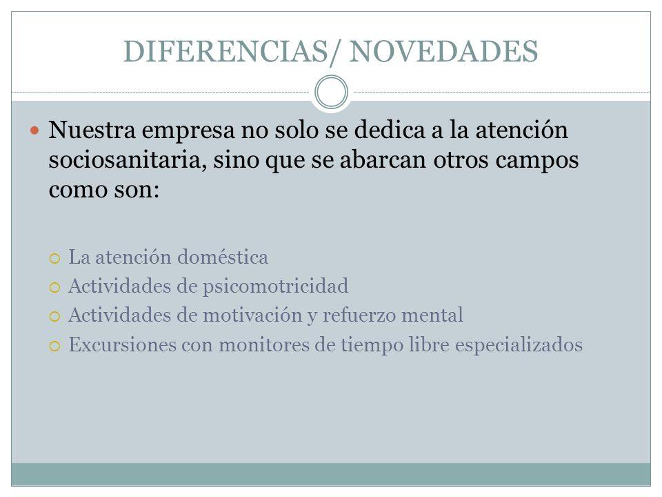 DIFERENCIAS/ NOVEDADES
