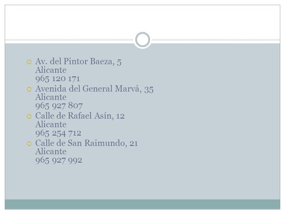 Av. del Pintor Baeza, 5 Alicante 965 120 171