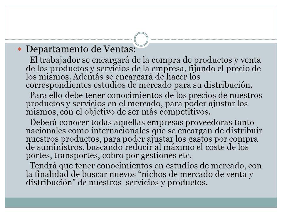 Departamento de Ventas: