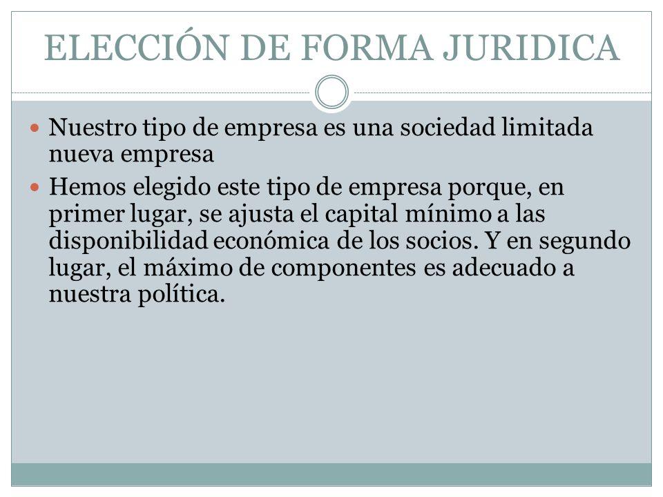 ELECCIÓN DE FORMA JURIDICA