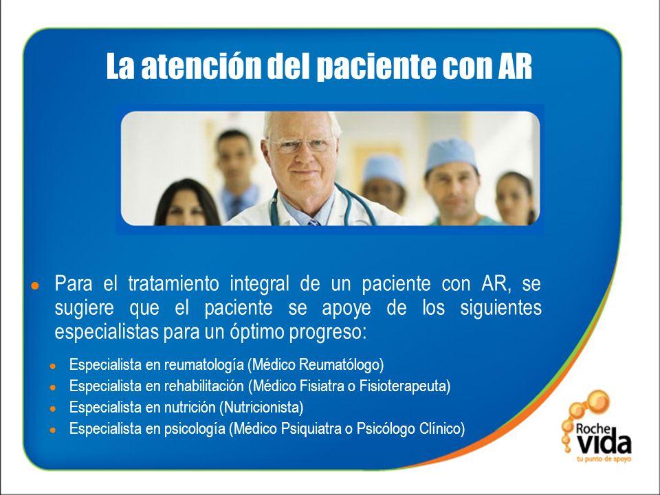 La atención del paciente con AR