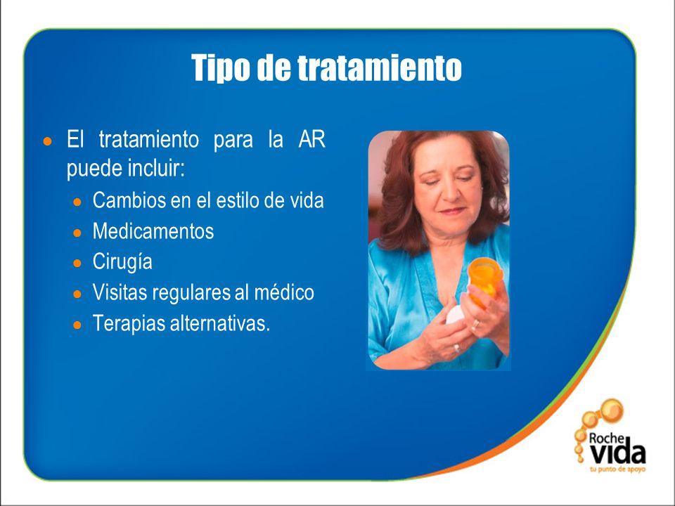 Tipo de tratamiento El tratamiento para la AR puede incluir: