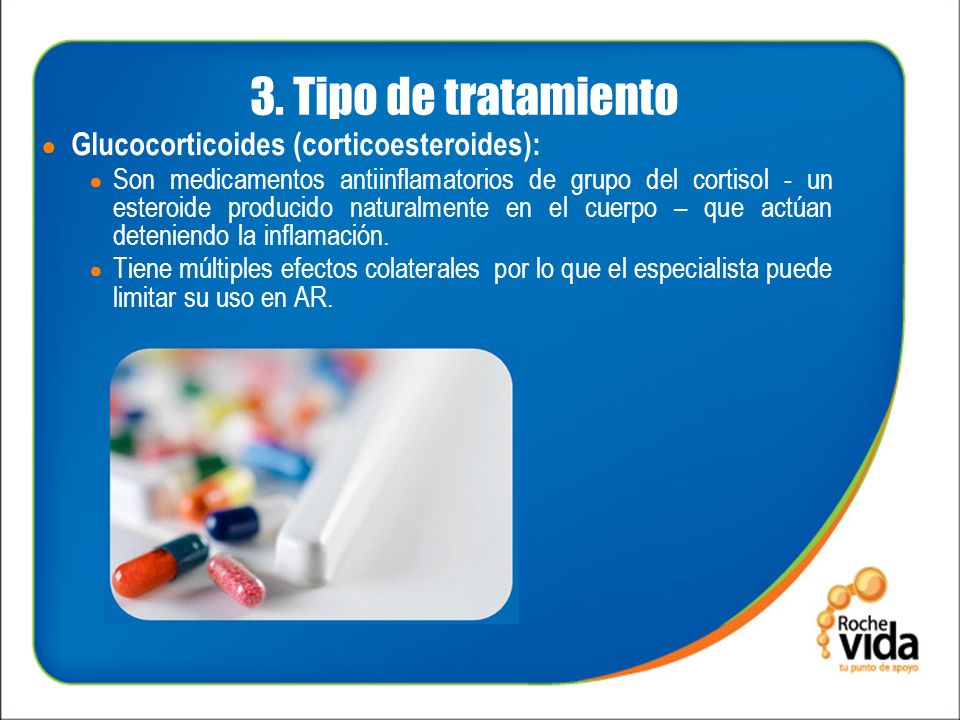 3. Tipo de tratamiento Glucocorticoides (corticoesteroides):