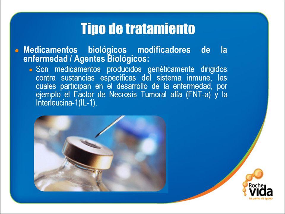 Tipo de tratamiento Medicamentos biológicos modificadores de la enfermedad / Agentes Biológicos: