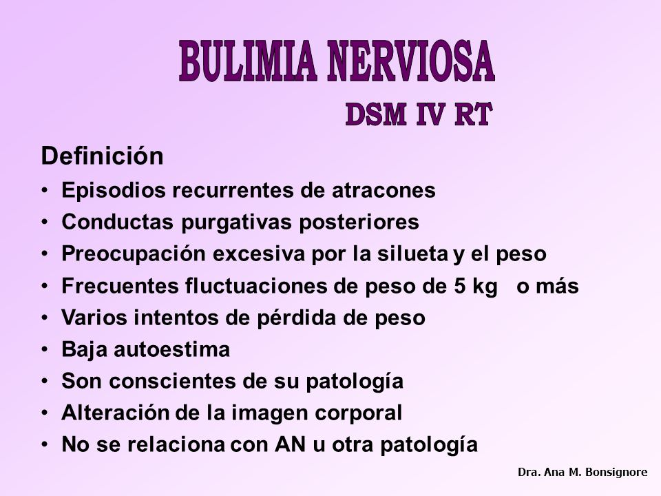 BULIMIA NERVIOSA DSM IV RT