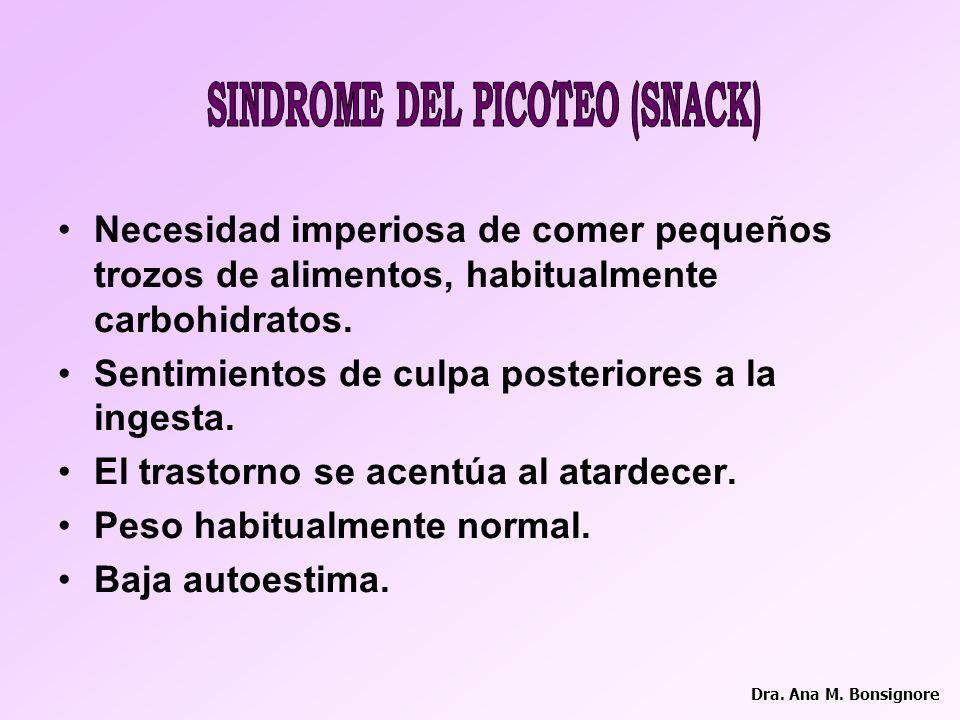 SINDROME DEL PICOTEO (SNACK)