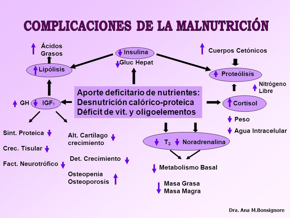 COMPLICACIONES DE LA MALNUTRICIÓN