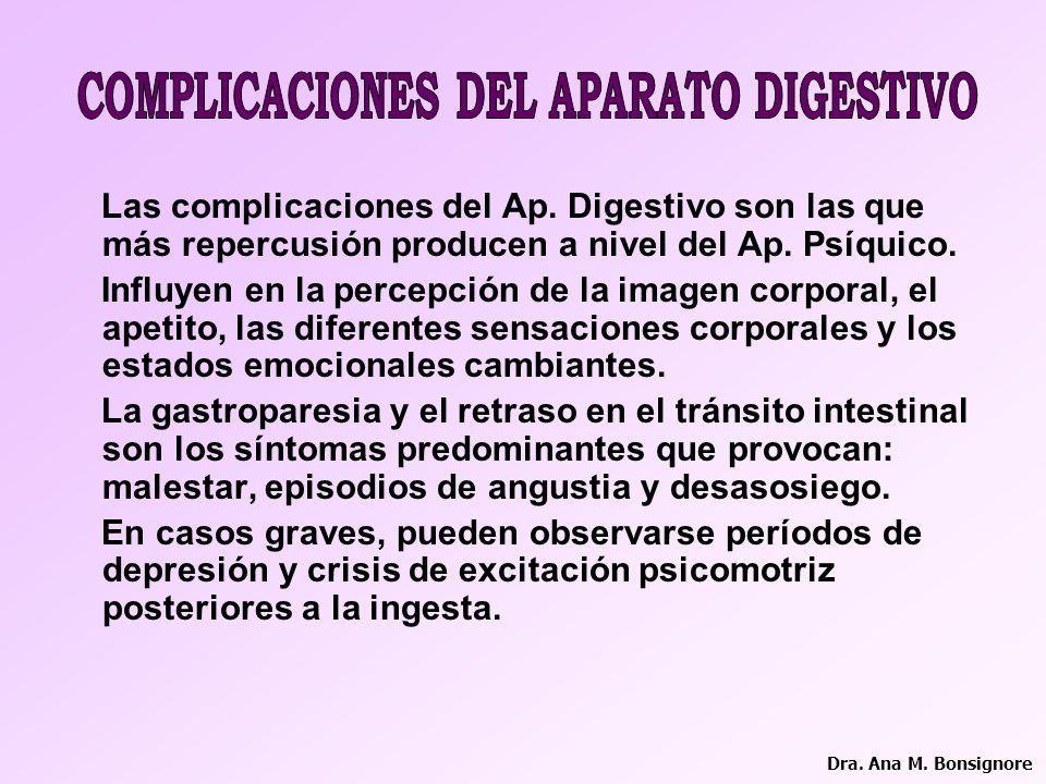 COMPLICACIONES DEL APARATO DIGESTIVO