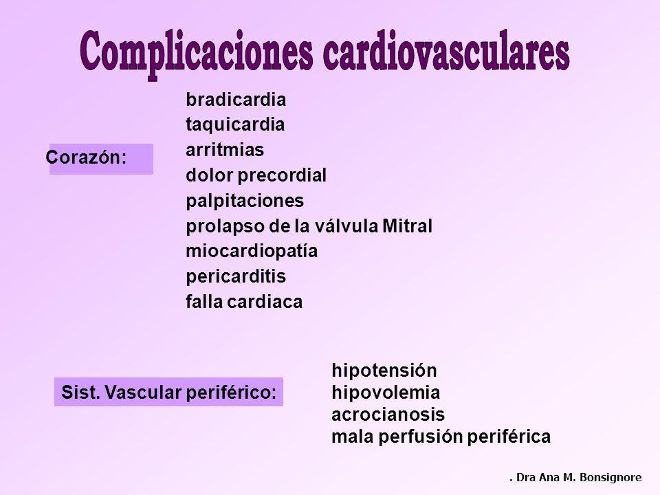 Complicaciones cardiovasculares