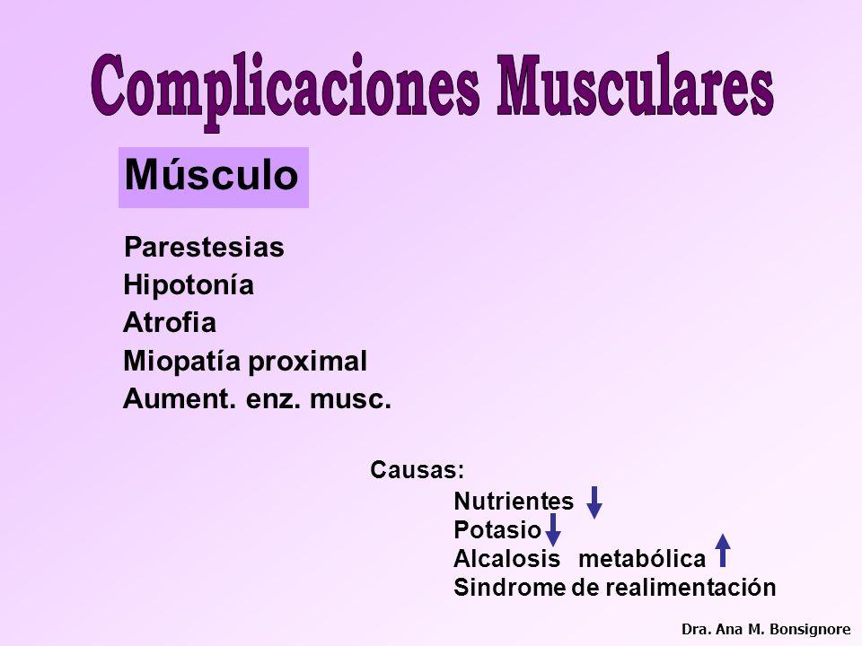 Complicaciones Musculares