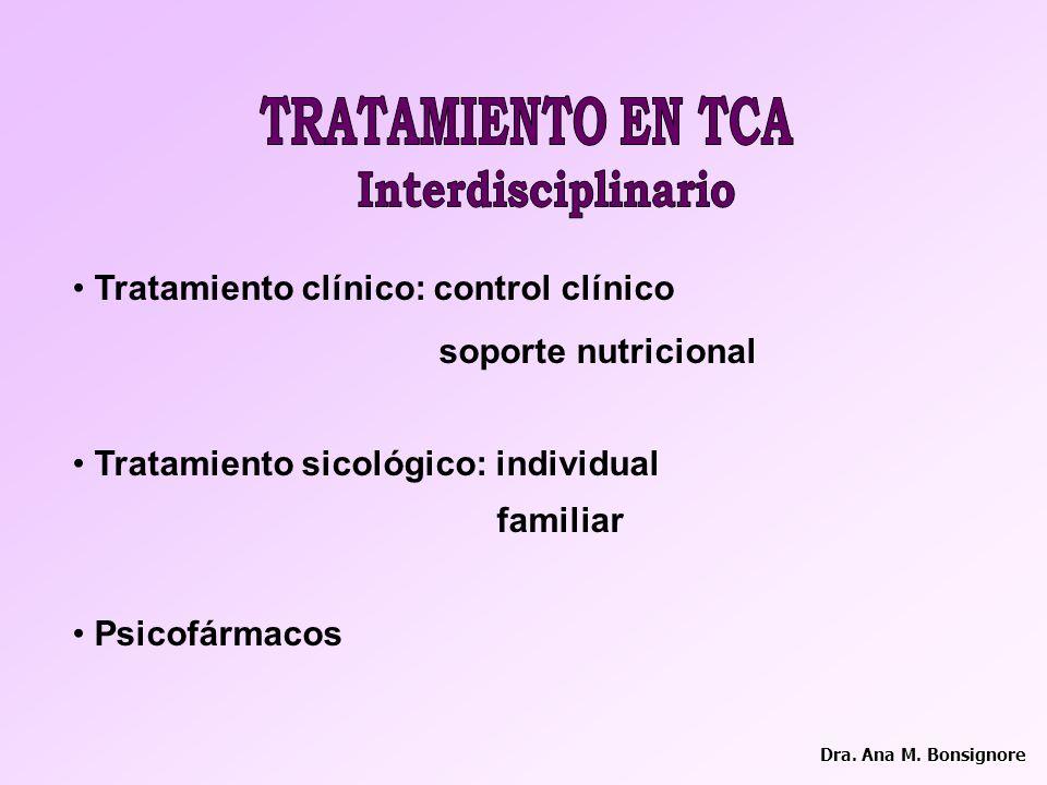 Interdisciplinario TRATAMIENTO EN TCA