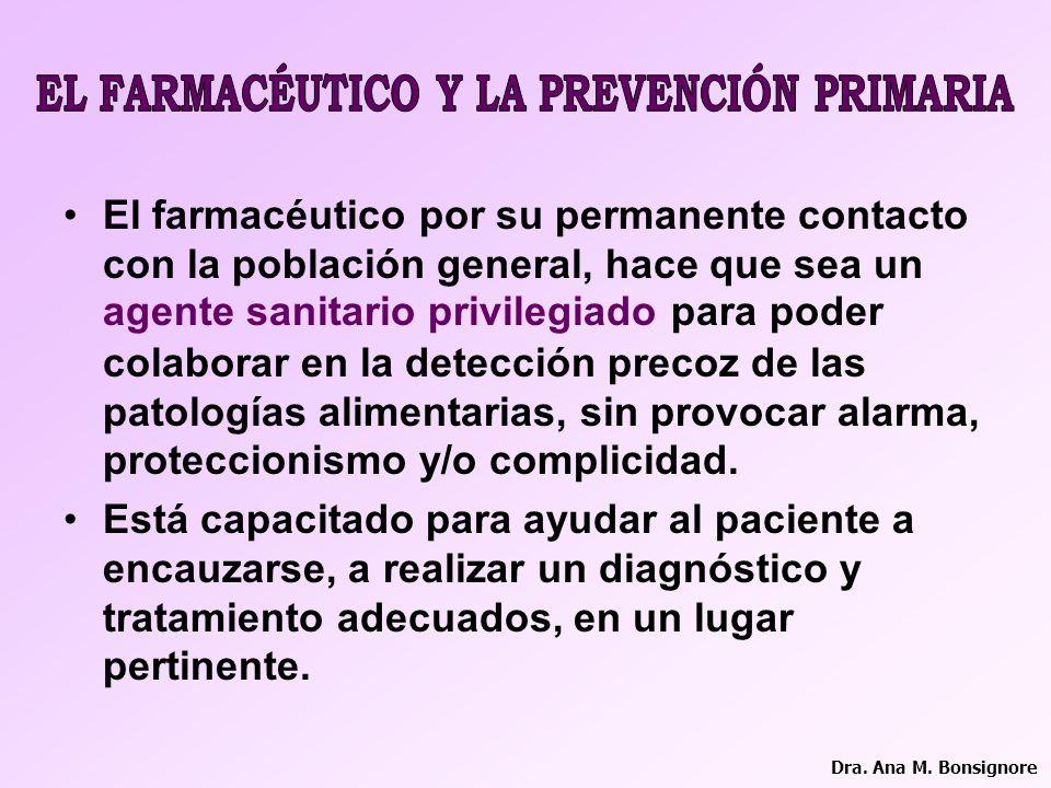EL FARMACÉUTICO Y LA PREVENCIÓN PRIMARIA
