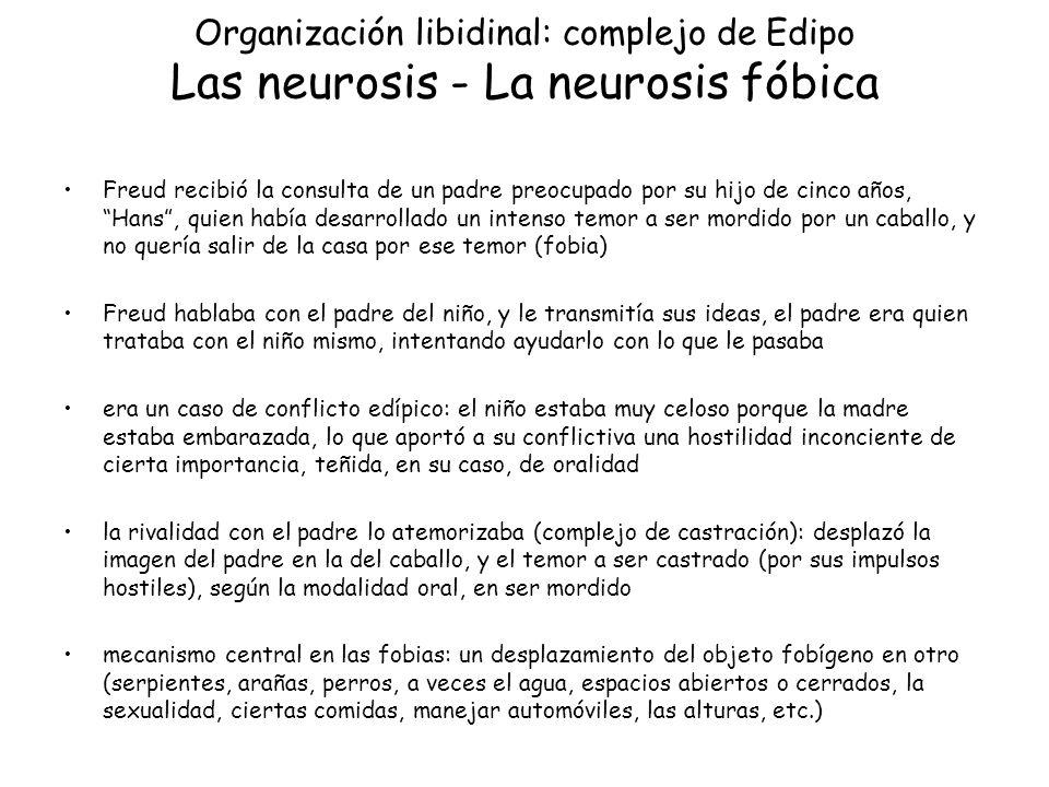 Organización libidinal: complejo de Edipo Las neurosis - La neurosis fóbica
