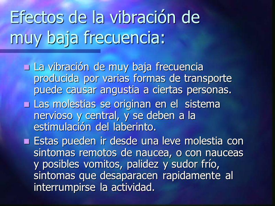 Efectos de la vibración de muy baja frecuencia: