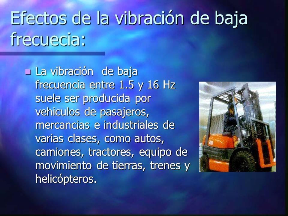 Efectos de la vibración de baja frecuecia:
