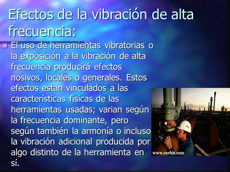 Efectos de la vibración de alta frecuencia: