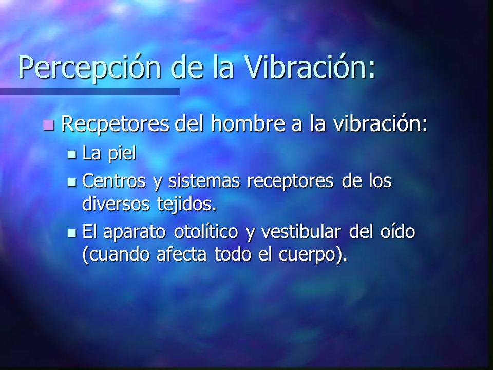 Percepción de la Vibración: