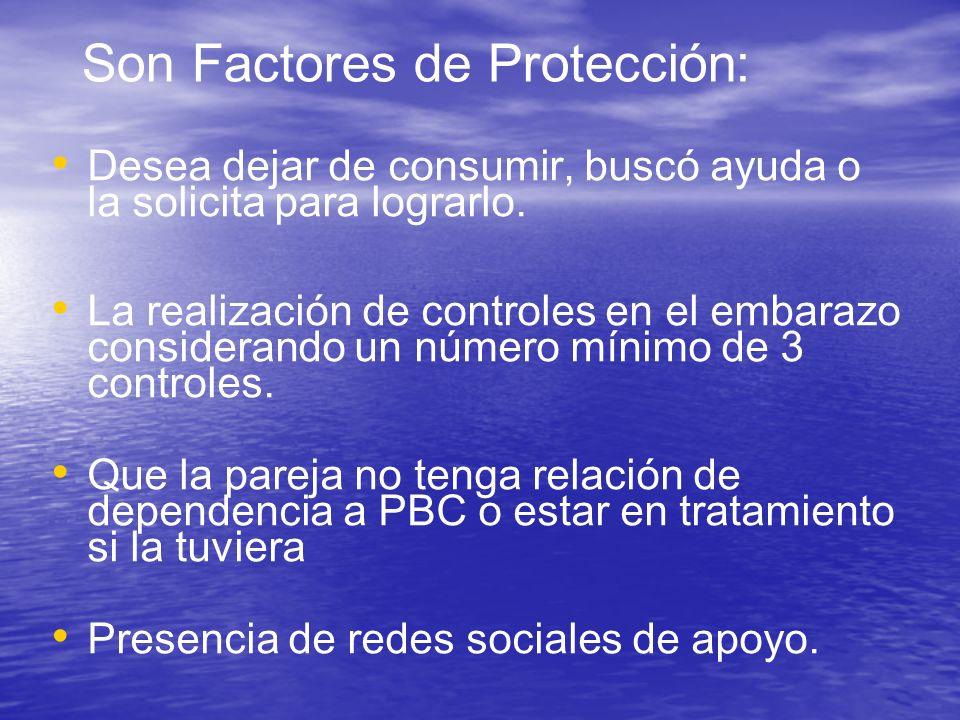 Son Factores de Protección: