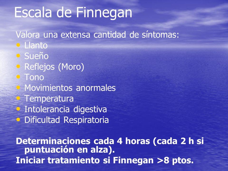 Escala de Finnegan Valora una extensa cantidad de síntomas: Llanto