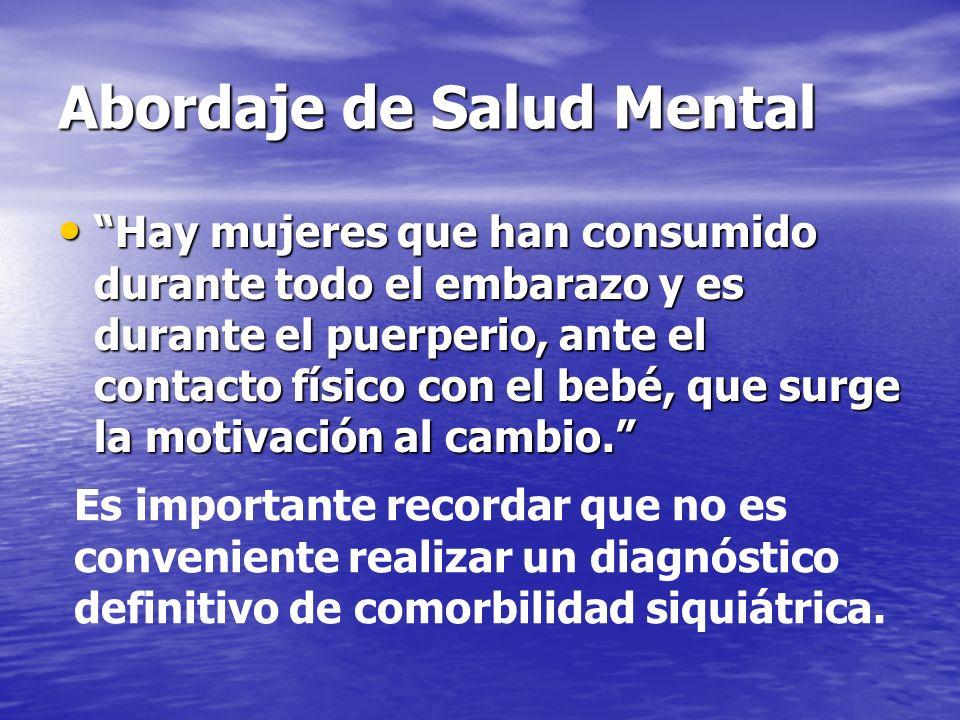 Abordaje de Salud Mental