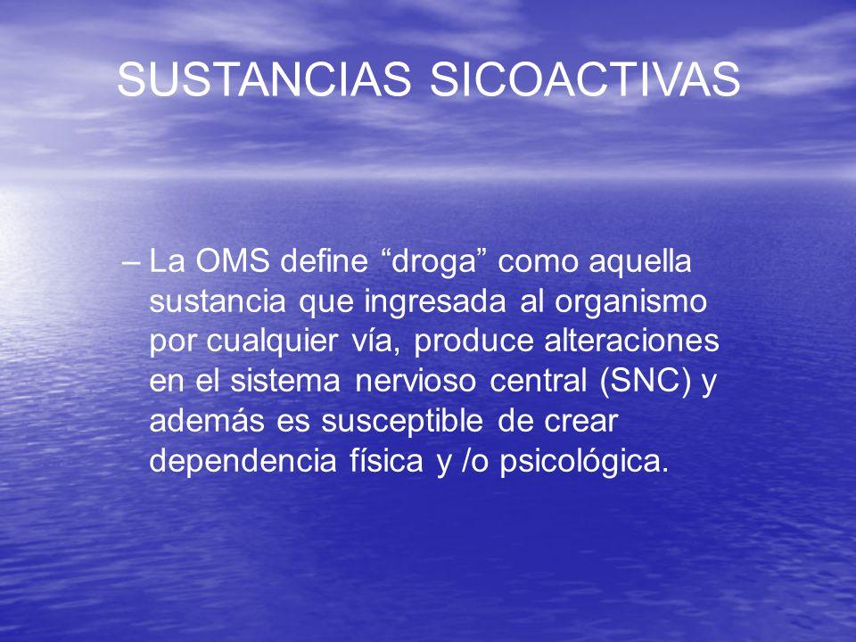 SUSTANCIAS SICOACTIVAS