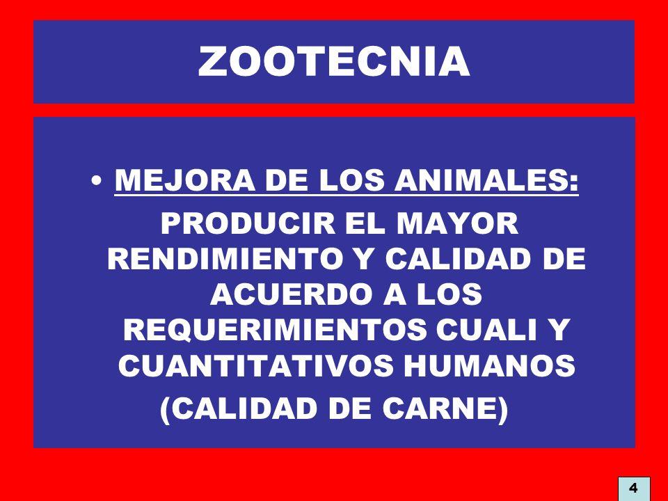 MEJORA DE LOS ANIMALES: