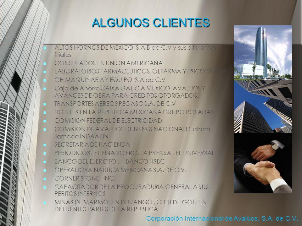 ALGUNOS CLIENTES Corporación Internacional de Avalúos, S.A. de C.V.