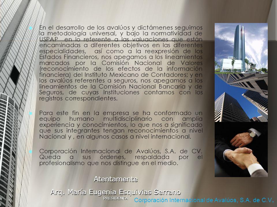 Arq. María Eugenia Esquivias Serrano