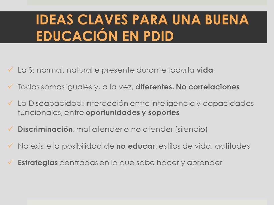 IDEAS CLAVES PARA UNA BUENA EDUCACIÓN EN PDID