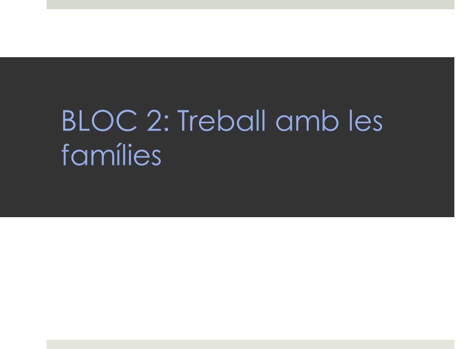 BLOC 2: Treball amb les famílies
