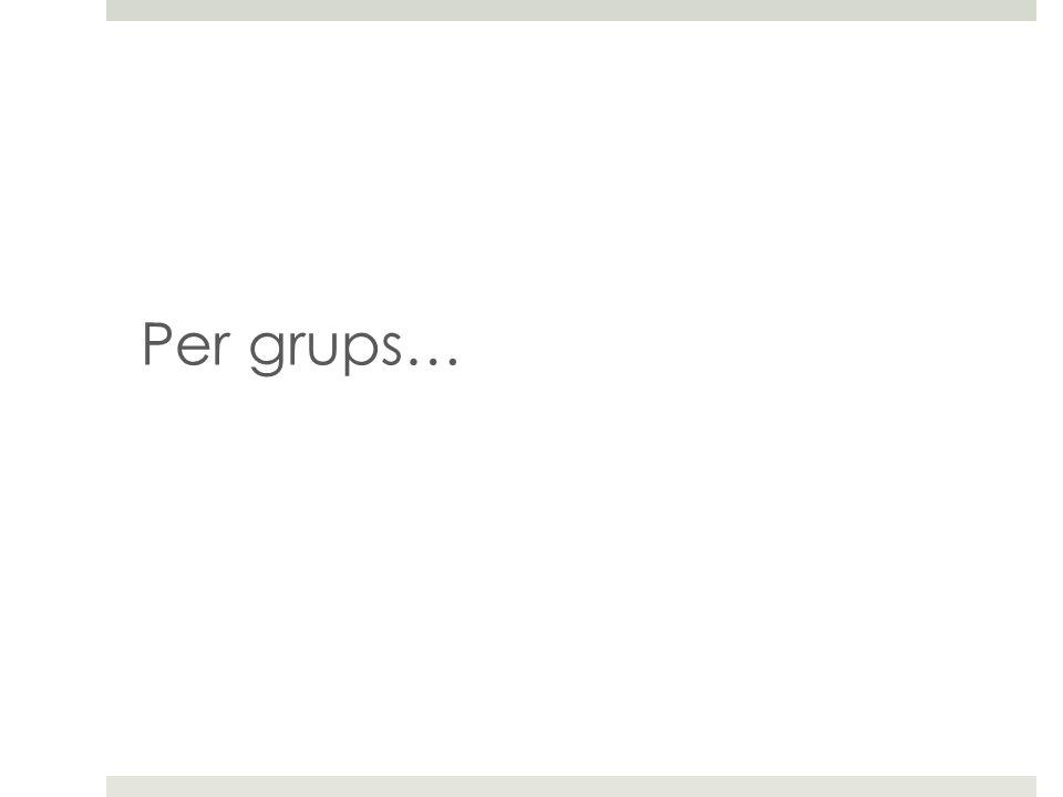Per grups…